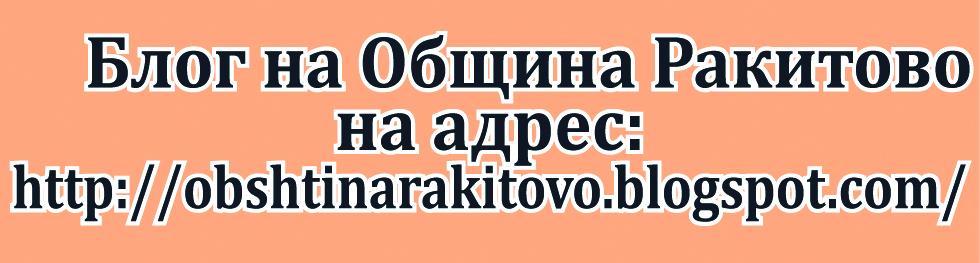 Блог на община ракитово
